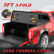 5ft Tri-fold Hard Tonneau Cover For 05-15 Toyota Tacoma Extra Short Truck Bed