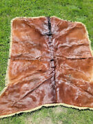 Excellent Antique Dubuque Tanning And.robe Co Horse Hair Sleigh Carriage Blanket