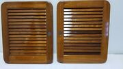 Teak Pair Marine Galley Cabinet Louver Doors For Boat, Yacht, Sailboat, Rv 20x16