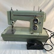 Vintage Sears Kenmore Sewing Machine Model 158-14000 Works W/ Ft. Pedal And Case