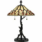 Roseto Qzlmp2784 Bronze 2 Light 25h Table Lamp With And Agate Stone Shade