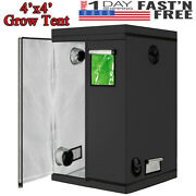 48x48x78 Mylar Hydroponic Grow Tent For Home Indoor Plant Growing Box 4'x4'