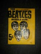1964 Beatles Unopened Card Wax Pack Topps
