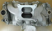Weiand 8018 Stealth Bb Chevy Intake Square Port Dual Plane 4150 Flange