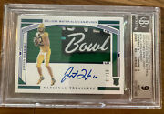 2020 National Treasures Justin Herbert Rookie Rc Auto Logo Patch 07/10 Bgs 9