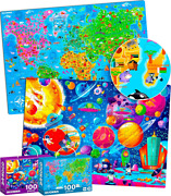100 Pieces Jigsaw Puzzles For Kids Ages 4-8 By Quokka – Big Floor Puzzles...