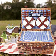 4-person Group Outdoor Picnic Household Storage Basket And Picnic Ware Set New
