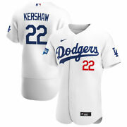Los Angeles Dodgers Clayton Kershaw 22 Nike 2020 World Series Authentic Jersey