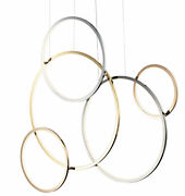 Et2 E20377 Union 5 Light 47w Led Abstract Chandelier - Multi-plated