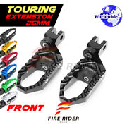 For Yamaha Fzr750 88-96 89 90 91 92 93 25mm Riser Cnc Touring Front Footpegs