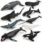9 Pack Large Ocean Animal Toys Realistic Party Favor Sea Animal Figurines