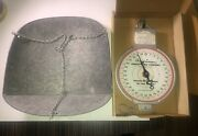 Vintage American Family Hanging Scale 60 Pound With Basket, Chains And Orig Box