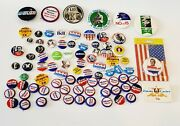 Huge Lot Of 84 Pcs Vintage Presidential And Political Campaign Pin Back Buttons