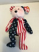 Ty Beanie Baby Rare Original Retired1999 Spangle Bear W/tags/ Collectible Errors