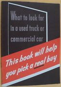 1939 Ford Used Truck And Commercial Car Shopping Handbook Brochure Dealer Original