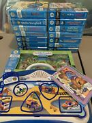 Leap Frog Little Touch Leap Pad - Blue - With 15 Books And 2 Puzzles