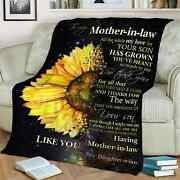 To My Mother In Law Elephant Blanket Funny Birthday Gift Throw Blanket Vintage
