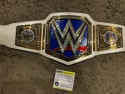 Signed Autographed Wwe Authentic Womenand039s Championship Replica Belt Aew Becky Wwf