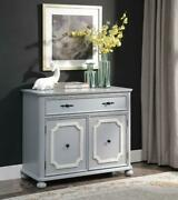 Classical Cabinet Storage Drawer Double Door Cabinet With 2 Tier Shelves Inside