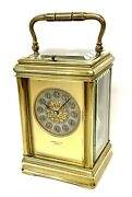 Antique Brass Striking Repeater Carriage Clock With Pink Dial J. Bagshaw Paris