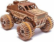 Wood Trick Wood Trick Monster Truck Self-propelled 3d Wood Puzzle Wooden Model