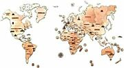 Wood Trick Wood World Map Puzzle 3d Wood Puzzle That Becomes An Interior
