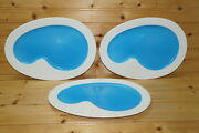 Villeroy And Boch Pool Shaped 3 Snack Plates, 11