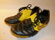 Nike 5 Bomba Pro Turf Soccer Shoes Men's Youth Yellow Leather - Us 6.5