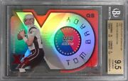 2000 Playoff Momentum Xand039s 180 Tom Brady Rc Rookie And039d/199 Bgs 9.5 Gem Mint