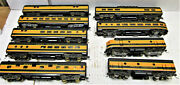 Vintage Tenshodo Great Northern Brass F9 Aandb And 7 Passenger Cars Ho Scale