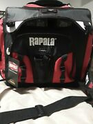 New Rapala Sportsman Tackle Bag 20x14x18 Removable Clear Plastic Boxes W/lures