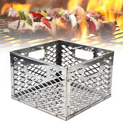 Anti-rust Bbq Charcoal Basket Stainless Steel Grill Square Drum 12.212.27.5in
