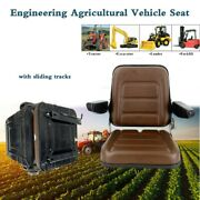 Engineering Vehicle Seat With Armrests For Forklift, Lawn Mower, Tractor