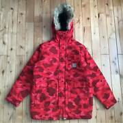 Used A Bathing Ape X N-3b Jacket Red Camo M Size Outerwear Japan