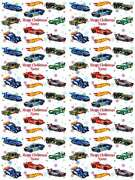 Hot Wheels Personalised Christmas Gift Wrapping Paper 4 Designs Add Name