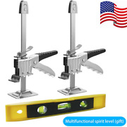 2 Pack Jack Tool Lifting Arm Precision Clamping Labor Saving Lifter Rubber Handl
