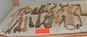 25 Vintage Farm Tractor Implement Mechancis Wrench Collectible Early Tool Lot Z5