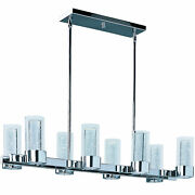 Maxim 20908 Chrome Sync 8-light 35 Led Chandelier With Bubble Glass Shades