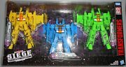 Transformers War For Cybertron Siege Rainmakers Seekers 3-pack New In Package