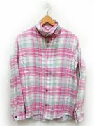 Kapital Shirt Long Sleeve Front Opening Check Cotton Pink Women's Size M Used