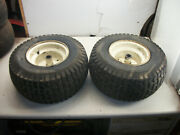 1986 Simplicity 4211 Lawn Tractor Part Pair Rear Tires And Wheels