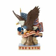 Jim Shore Patriotic Freedom Eagle-for Love Of Country 6008791 Heartwood New 2021