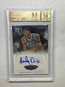 2012 Marquee Anthony Davis Auto Rc Bgs 9.5 W 10 Auto Cracked Slab Sold As Is