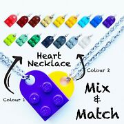 Lego Heart Necklace Pendant|mix And Match|make Your Own Colour|gift For Loved One