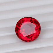 Natural Mozambique Red Ruby 7.00 Ct Perfect Round Cut Loose Certified Gemstone