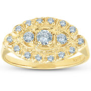 Womenand039s Antique 14k Yellow Gold 1/2ct Diamond Right Hand Ring