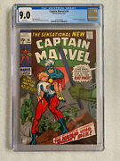 Captain Marvel 20 Cgc 9.0 White Pages 1970 1st Rat Pack, Hulk Appearance