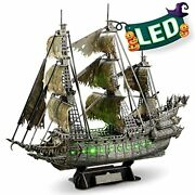 3d Puzzles For Adults Halloween Decorations Green 1 Green Led Flying Dutchman