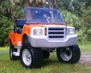 Custom Golf Cart Body Kit Truck Front And Rear With Lights