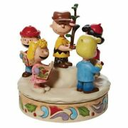 Jim Shore Peanuts Charlie Brown And Friends Around Christmas Tree 6008958 New
